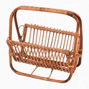 Revistero de bambú y ratán, años 60
