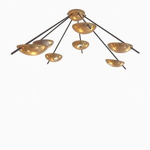 Brass Sconce or Ceiling Lamp from Stilnovo, 1950s