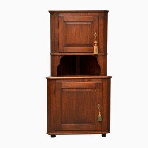 Antique Corner Cabinet in Oak