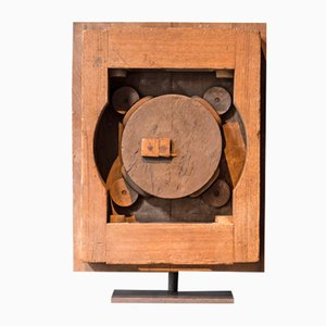 Constructivist Mould in Oak on a Socle, 1940s