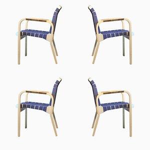 Fauteuils 45 Vintage par Alvar Aalto pour Artek, Set de 4