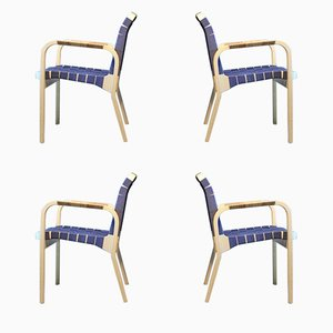 Vintage Model 45 Armchairs by Alvar Aalto for Artek, Set of 4