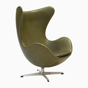Green Egg Chair by Arne Jacobsen for Fritz Hansen, 1960s