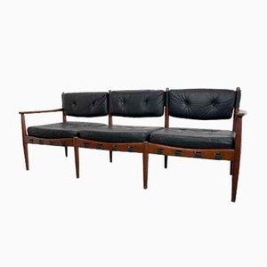Leder 3-Sitzer Sofa von Eric Merthen für IRE Möbler, 1960er