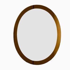 Specchio ovale di Lupi Cristal Luxor, anni '60
