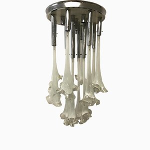 Mid-Century Murano Flower Chandelier by Gino Vistosi