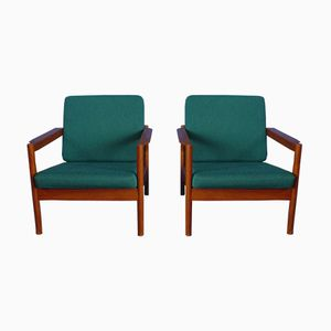 Teak Chairs by Borge Jensen for Magnus Olesen, 1960s, Set of 2