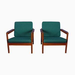 Teak Stühle von Borge Jensen für Magnus Olesen, 1960er, 2er Set
