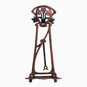 Caballete para mesa de hierro fundido, década de 1900