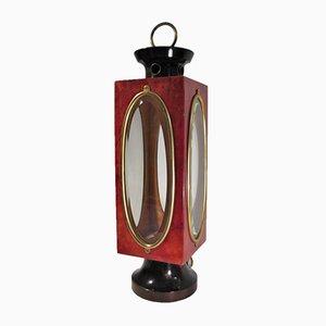 Lampe de Bureau Lanterne en Parchemin et Laiton par Aldo Tura, Italie, 1960s