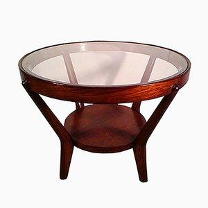 Tavolino da caffè vintage in legno di Koželka e Kropáček per Interier Praha