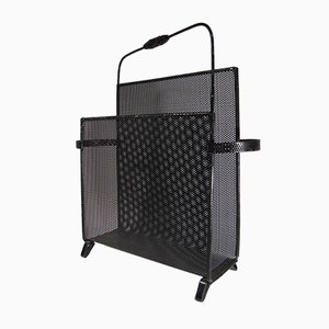 French Perforated Metal Magazine Rack by Mathieu Matégot, 1950s