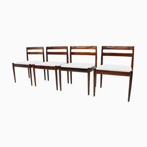 Vintage Universe 301 Esszimmerstühle von Kai Kristiansen für Magnus Olesen, 4er Set