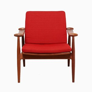 Vintage Danish Spade Chair by Finn Juhl for France and Daverkosen