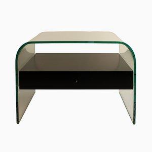 Gebogener Nachttisch von Fiam Italia, 1980er
