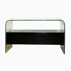 Tempered Glass Dresser from Fiam Italia, 1980s