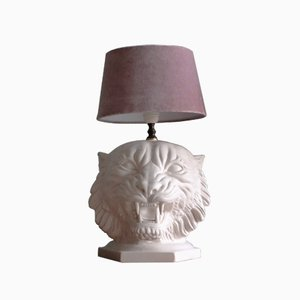 Italian Ceramic Tiger Table Lamp, 1960s