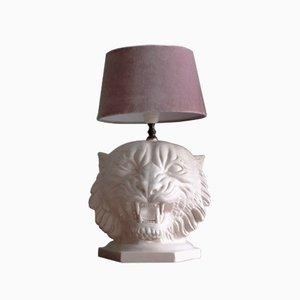 Lámpara de mesa italiana en forma de tigre de cerámica, años 60
