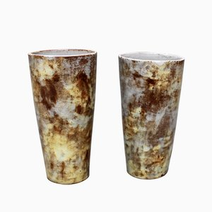 Vases Vintage en Céramique par Alexandre Kostanda, Set de 2