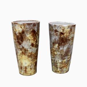 Vintage Keramik Vasen von Alexandre Kostanda, 2er Set