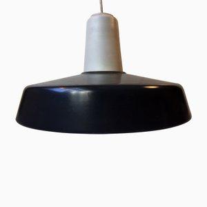Lámpara colgante Midtpunktspende en blanco y gris de Louis Poulsen, años 60
