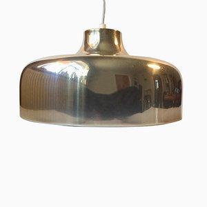 Lampe à Suspension Mid-Century en Laiton, Suède, 1970s
