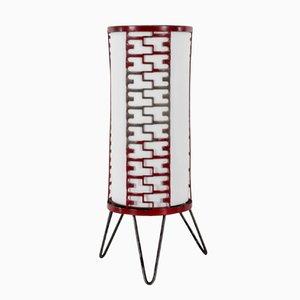 Lámpara de mesa checa metálica, años 60