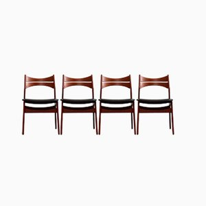 Vintage Model 310 Dining Chairs by Erik Buch for Chr. Christiansen, Set of 4