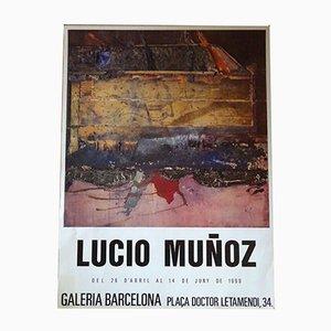 Póster de exhibición Lucio Muñoz, 1990