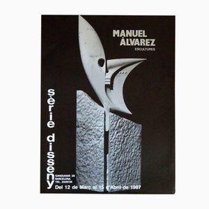 Affiche d'Exposition Manuel Álvarez, 1987