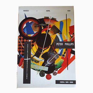 Peter Phillips Exhibition Poster, 1989