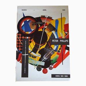 Poster della mostra di Peter Phillips, 1989