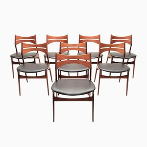 Mid-Century Model 310 Teak Dining Chairs by Erik Buch, Set of 8