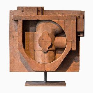 Sculpture Constructiviste en Chêne , 1940s
