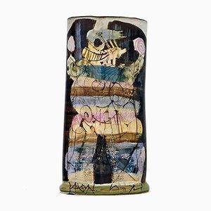 Jarrón de cerámica de Gilbert Portanier, 1981
