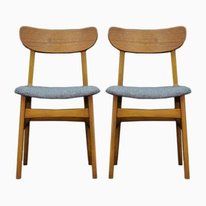 Mid-Century Scandinavian Teak Chairs , Set of 2