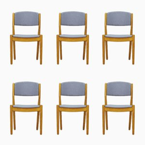 Vintage Ash Chairs by Poul M. Volther for FDB Møbler, Set of 6