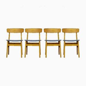 Chaises de Salon Vintage Plaquées en Teck de Farstrup Møbler, Set de 4