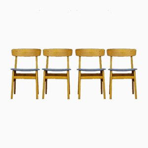 Vintage Teak Veneered Dining Chairs from Farstrup Møbler, Set of 4