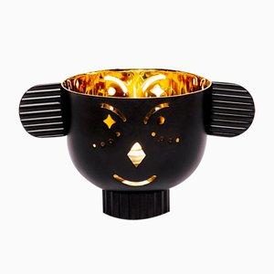 Pipoz Messing Kerzenständer mit schwarzer Außenseite von Jaime Hayon für Paola C.