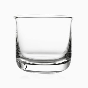 Whiskey Glass in Transparent Glass by Aldo Cibic for Paola C.