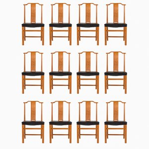 Dining Chairs by Axel Larsson for Bodafors, 1940s, Set of 12