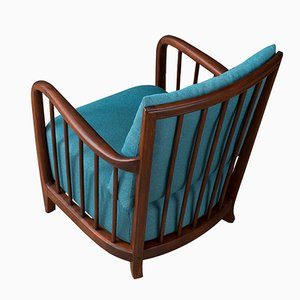 Vintage Buchenholz Sessel, 1950er