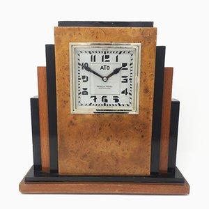 Horloge de Table Art Déco avec Mécanisme ATO de Michelon Freres, France, 1930s