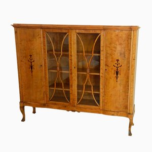 Antique Birch Vitrine, 1900s