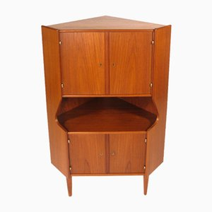 Danish Teak and Glass Bar Cabinet, 1960s