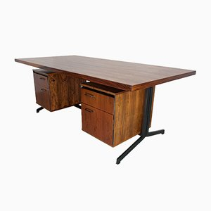 Mid-Century Large Rosewood Desk by Friso Kramer & Coen de Vries for Eeka, 1960s