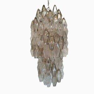 Polyhedron Kronleuchter von Carlo Scarpa für Venini, 1960er