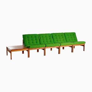 Canapé Modulaire et Table d'Appoint Modèle 175 par Ole Gjerløv-Knudsen & Torben Lind pour France & Søn, 1960s