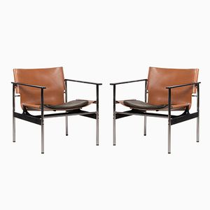 Model 657 Armchairs by Charles Pollock for Knoll International, 1970s, Set of 2